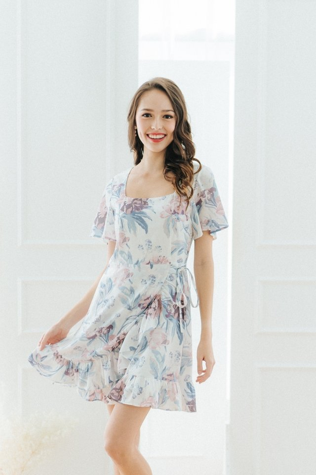 *BACKORDER* Yuna Floral Signature Ruffles Dress in White