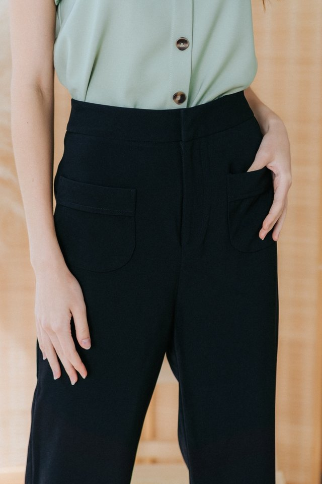 Charvi Pocket Culottes in Black