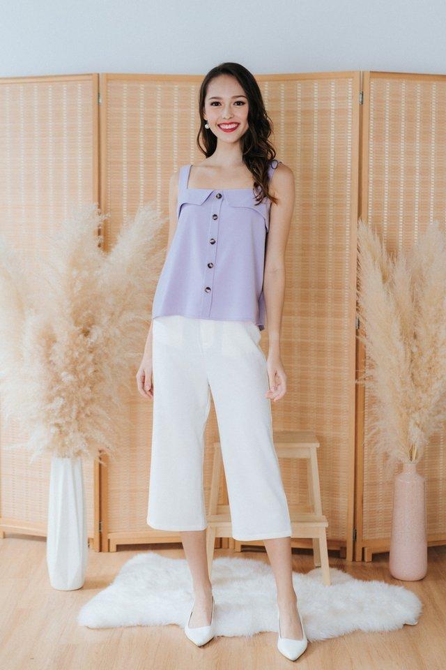 Aurelia 2 Way Button Top in Lilac