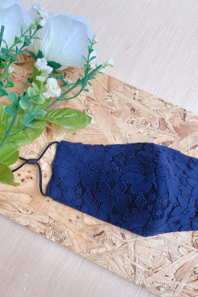 TSW Marienne Lace Mask in Navy
