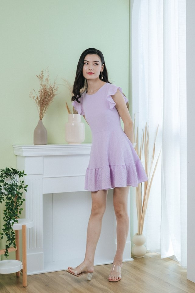Summer Ruffles Hem Dress in Lilac
