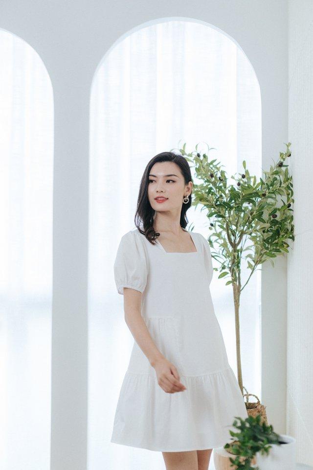 Lulu Babydoll Dress in White