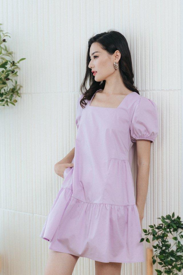 Lulu Babydoll Dress in Lilac